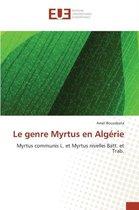 Le Genre Myrtus En Alg rie