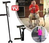 Clever Cane - Inklapbare wandelstok - LED lamp - Alarm - Opvouwbaar - Inklapbaar - Bekend van TV