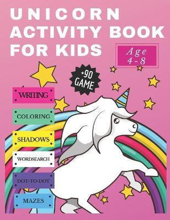 Unicorn Activity Book for Kids age 4-8