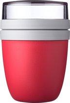 Mepal – Lunchpot Ellipse – Praktische muesli beker to go – Nordic red – Geschikt voor vriezer, magnetron en vaatwasser.