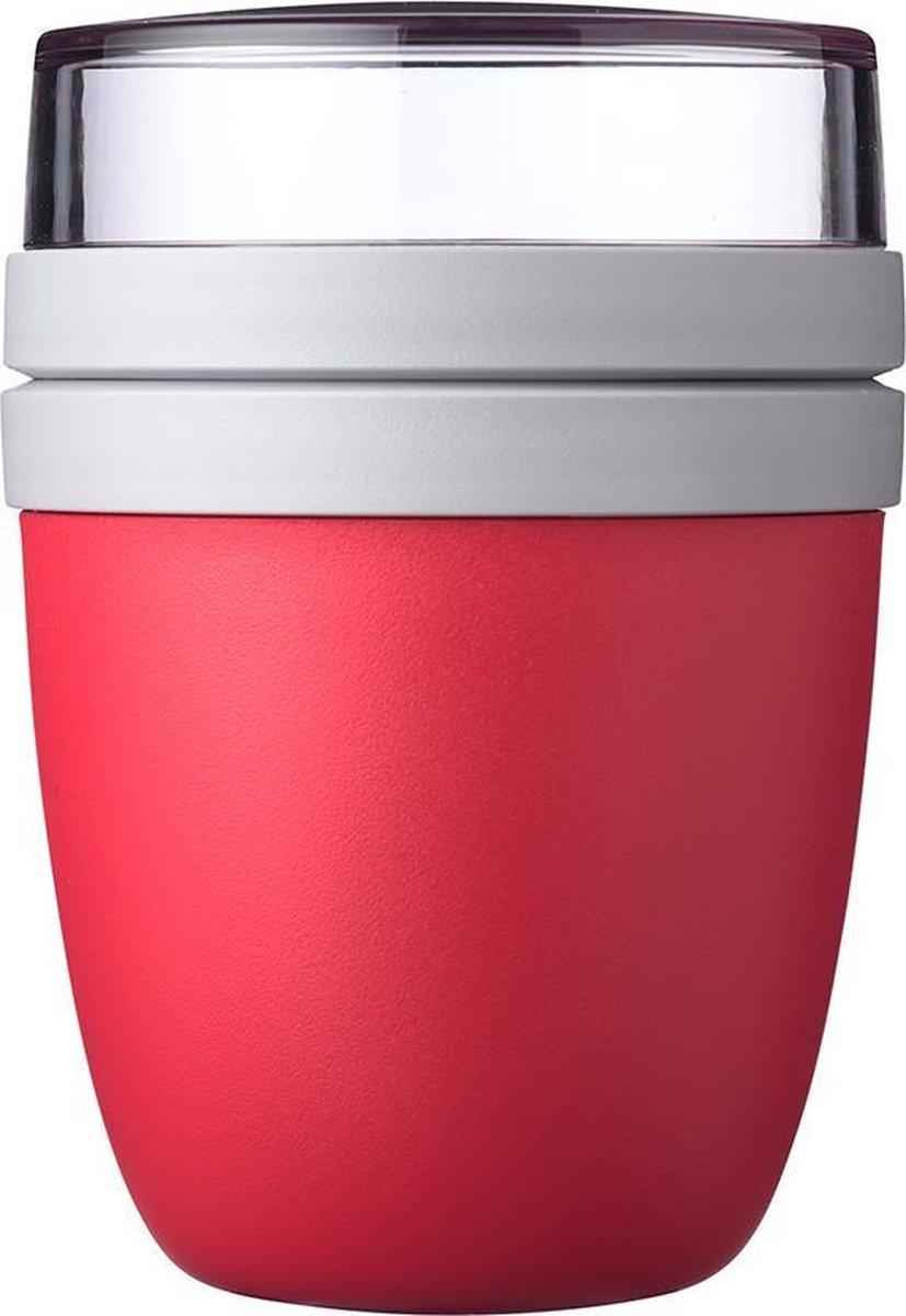 Mepal   Lunchpot Ellipse   Praktische muesli beker to go   Nordic red   Geschikt voor vriezer, magne