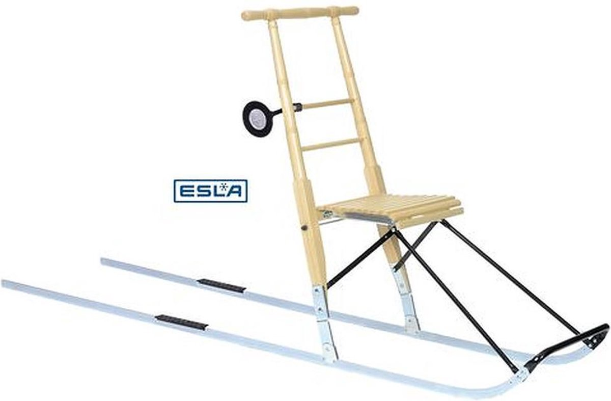 ESLA - Kicksleds - T8 XXL - birch (gelakt hout) - voor personen 180 cm en groter - met snowrunners