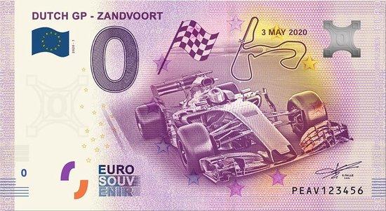 Afbeelding van het spel 0 Euro Biljet 2020 - Dutch GP - Zandvoort