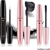 Golden Lash™ - 3-delig lash lift set - Beste Wimperserum set - Wimpergroei Serum + Fiber - 4D Fiber Mascara - 3 stuks