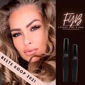 FYB 4D mascara set | waterproof | extreem volume | effect van wimperextensions • incl wimpergroeiserum |
