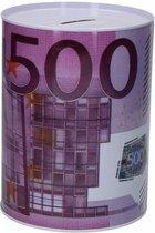 Spaarpot 500 euro biljet | Geldspaarpot | Euro spaarpot volwassenen| spaarpot jongen | spaarpot meisje | spaarpot kinderen |spaarpot blik | XL formaat ø15 x 22 cm | per stuk