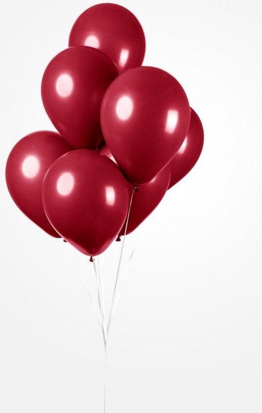 25 Ballonnen Bordeaux, 30 cm , Helium geschikt, Verjaardag, Feest, Koningsdag, Voetbal