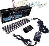 O.M.G® - USB Auto Led strip inclusief afstandsbediening - Led strip - Auto sfeerverlichting - RGB ledverlichting