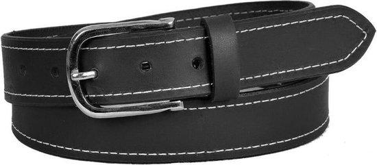 Dielay – Luxe Riem – Volnerf Leer / Leder – Totale Lengte 130 cm – Zwart