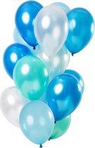 Azure Blauwe Ballonnen Chroom 33cm 15st
