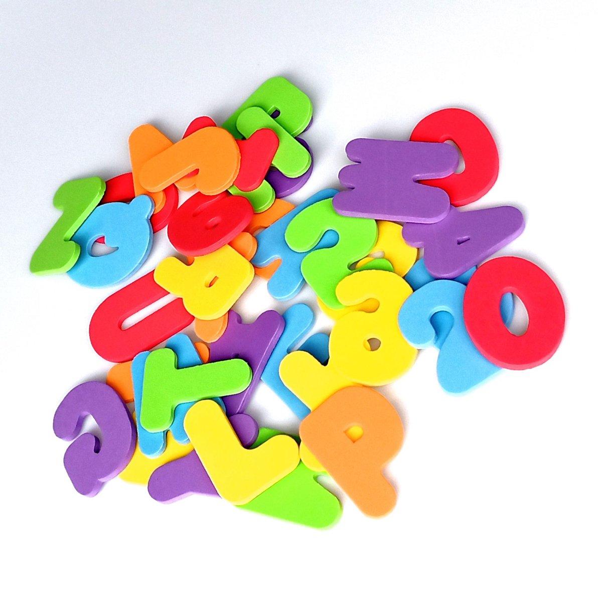 Jobber Waterplay Badspeelgoed - Foam letters en cijfer - ABC badletters