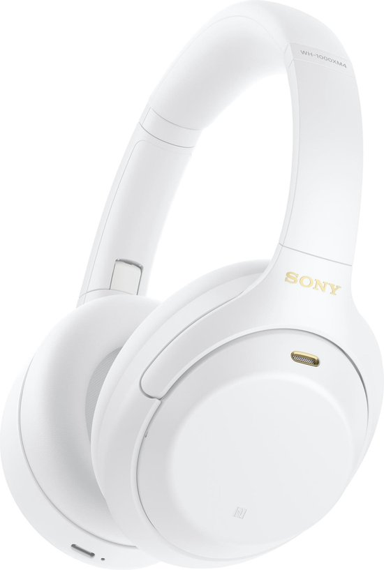 Sony WH-1000XM4 - Draadloze over-ear koptelefoon met Noise Cancelling - Limited Edition - Silent White