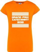 Dames T-shirt Grand Prix Zandvoort - 2021 - large - Getailleerd - oranje - EIZOOKSHOP SPECIALITIES