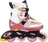 Nijdam Inline Skates Verstelbaar - 33-37 - Fruity Fro-yo - Roze/Wit