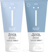 Naïf natuurlijke Dag & Nachtcrème - 2 x 50ml - voordeelverpakking gezichtsverzorging