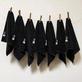 Kitchen Lab Co. Microvezeldoekjes Zwart - Dagelijks Doekje Set 7 Stuks - Vaatdoekjes Microvezel - 30x30cm