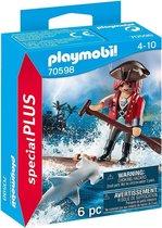 PLAYMOBIL Special Plus Piraat met vlot en hamerhaai - 70598