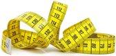meetlint geel - 150 cm - beide zijden centimeter aanduiding - fiberglas glasvezel - meetband of lintmeter