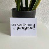 Vaderdag kaart papa held - Zwart Wit - bijStip