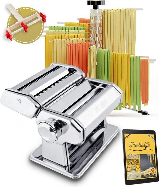 PastaLife Pastamachine – Pasta droogrek – Pastamaker - Snijder - Inclusief...