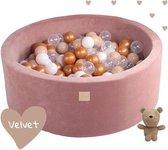 ballenbak XL Velvet SET Teddy Bear - 90x30 incl. 250 ballen
