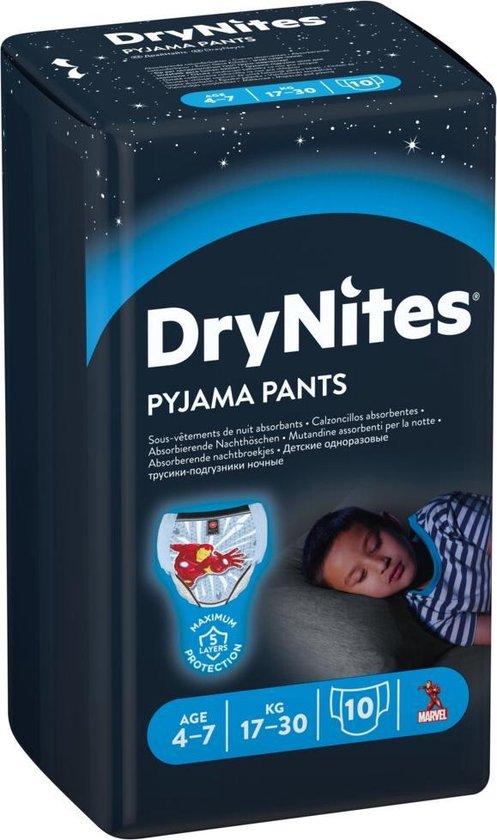 DryNites absorberende luierbroekjes - jongens - 4 tot 7 jaar - 30 stuks