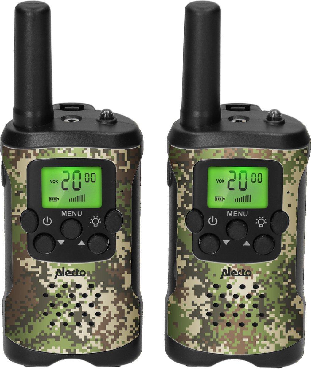 Alecto FR115CAMO - Set van twee walkie talkies voor kinderen - tot 3 kilometer bereik, CAMO