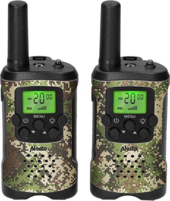 Alecto FR115CAMO - Set van twee walkie talkies voor kinderen - tot 7 kilometer bereik, CAMO