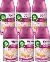 Air Wick Freshmatic Automatische Spray Life Scents Zalige Zomer - 6 x 250 ml - Navulling - Voordeelverpakking