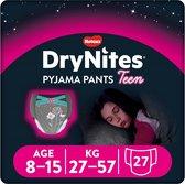DryNites absorberende luierbroekjes - meisjes - 8 tot 15 jaar - 27 stuks