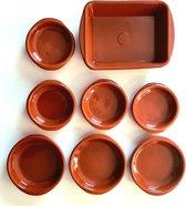Tapas Schaaltjes pakket - 8 schalen - Tapasschaaltjes - Ovenschaal - Serveerschaal