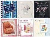 6 Geboorte - Wenskaarten - 11 x 12 cm -  Geboorte - Gevouwen kaarten met enveloppen