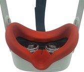 Siliconen VR Cover Gezichtsmasker voor Oculus Quest 2 (rood)