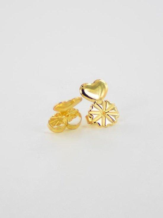 Oorbellen ondersteuning - oorbel lifters - tegen kantelen van de oorbellen - gouden kleur