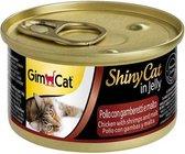 5X Gim Cat ShinyCat in Jelly Chicken with Shrimps & Malt 70g
