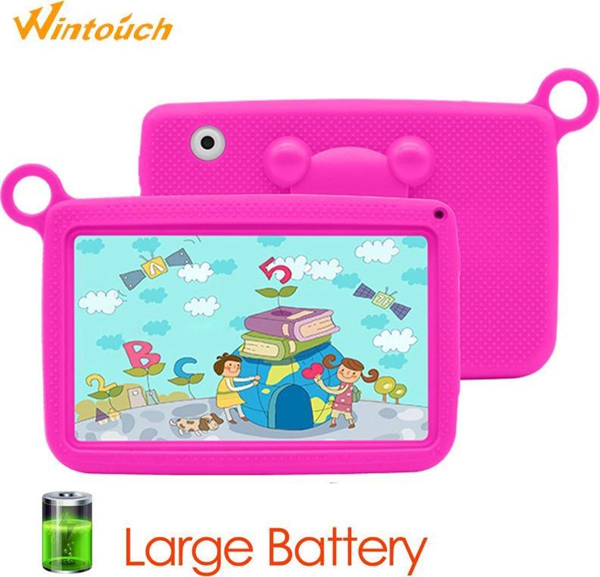 Kindertablet Pro Roze - Tablet 7 inch - 16 GB opslag - Kinder tablet - Android 8.1 - vanaf 3 jaar - tablets kinderen - kids tablet - Scherp HD beeld - leerzame voor kinderen - Wifi Bluetooth - voor-achter camera - Play store - uitstekende batterij