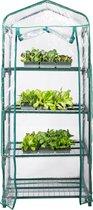Zindoo Kweekkas – Tuinkas – 160 cm hoog – 4 Lagen - Broeikas – Tuinieren – Hobbykas – Tomatenplant – Aardbeienplant – Slaplant – Zelf Groenten of Fruit Kweken – Transparant – Balkonkas – Moestuin – Bloemen – Planten - Kwekerij