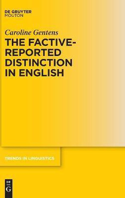 Boek cover The Factive-Reported Distinction in English van Caroline Gentens (Hardcover)