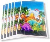 Uitdeelzakjes Dino's 20 Stuks - Traktatie zakjes voor Uitdeelcadeautjes - Uitdeelzakjes Kinderfeestje - Kinderen