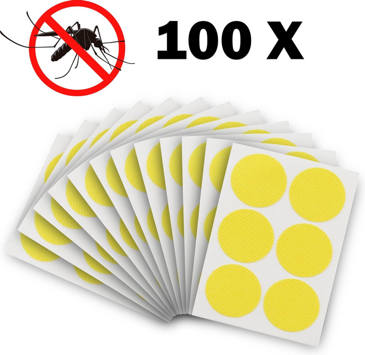 100 anti muggen stickers - citronella pleister deet vrij baby kind veilig - anti mug  pleisters anti