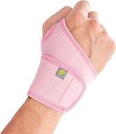 Bracoo WS10 Polsbandage Polsbrace - verstelbare neopreen band - wrist support - roze