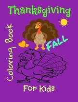 Thanksgiving and fall coloring book for kids