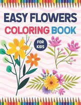 Easy Flowers Coloring Book For Kids