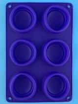 Muffinvorm - Bakvorm - Siliconen - 6 muffins - Paars