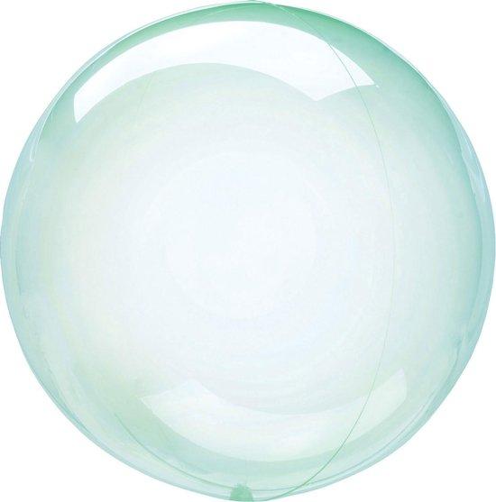 Anagram Folieballon Clearz Crystal Clear 46 Cm Transparant Groen