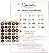Eid Mubarak – Kalender met stickervel Goud (A3)