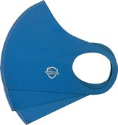 SafeSave mondkapjes-niet medische mondmasker-wasbare en herbruikbare neopreen stoffen mondkapje met leuke print/design-unisex mondkap-3 stuks-cerulaan blauw