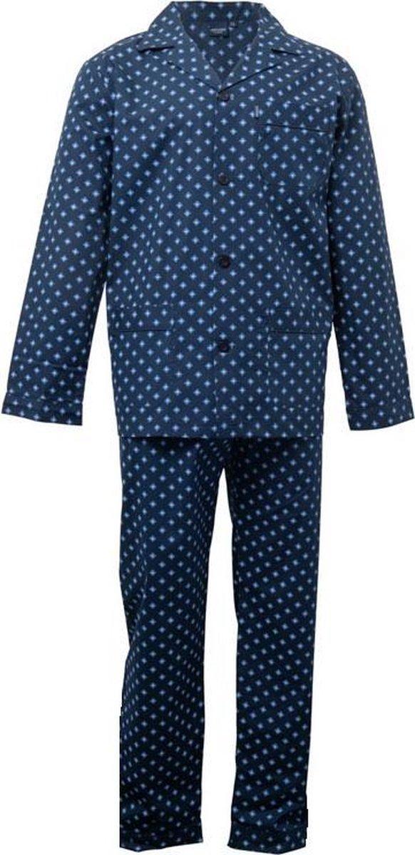 Gentlemen heren pyjama doorknoop   MAAT 56   Dubbel ruit   marine   Poplin 100% katoen