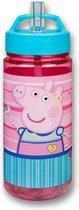Peppa Pig Drinkbeker 500 ML - Beker - Rietjesbeker - Schoolbeker - Drinkbeker - Peppa Big - Roze - Blauw -  Lunchbeker - Schoollunch