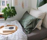 Mori Concept - Essential zijde kussensloop - 50x75 - Moss Groen - 100% Moerbei zijde Voorkant – Mulberry Silk Pillowcase
